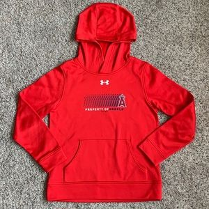 Under Armour Hoodie Coldgear MLB Angels Large Red